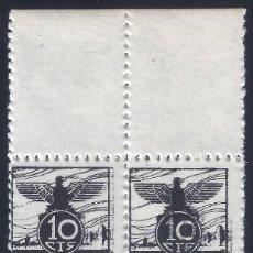 Sellos: VIÑETA AUXILIO DE INVIERNO 1936 GÁLVEZ Nº 5 (BLOQUE DE 4) (VARIEDAD...FUELLE DIAGONAL). LUJO. MNH **. Lote 284380553
