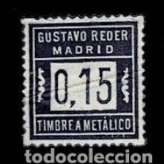 Timbres: CL8-3 MADRID VIÑETA GUSTAVO REDER TIMBRE A METALICO VALOR 0.15. Lote 284644158