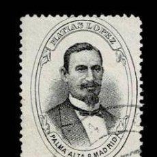 Sellos: CL8-3 MADRID VIÑETA PUBLICITARIA DE MATIAS LOPEZ DE PALMA ALTA USADA POR CORREO. Lote 284644488