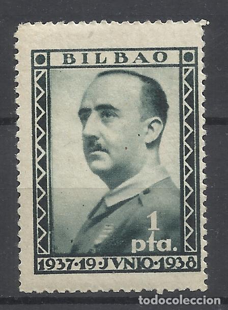 FRANCO 1937 BILBAO 1 PTS NUEVO** (Sellos - España - Guerra Civil - Locales - Nuevos)