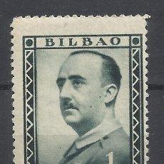 Sellos: FRANCO 1937 BILBAO 1 PTS NUEVO**. Lote 285064348