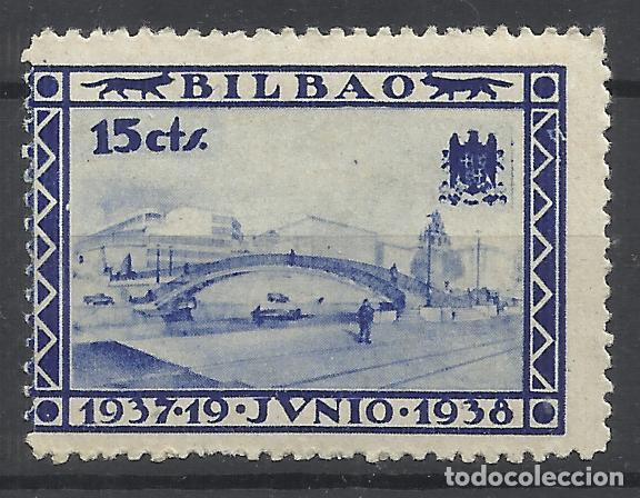 1937 BILBAO 15 CTS NUEVO* (Sellos - España - Guerra Civil - Locales - Nuevos)