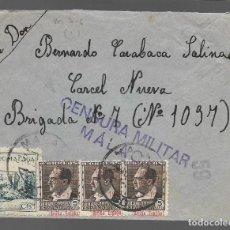 Sellos: CARTA A -CARCEL NUEVA- BRIGADA Nº 7 -Nº 1097- C.M. MALAGA, 59- VER FOTOS. Lote 285664743