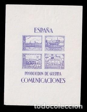 0036 GUERRA CIVIL PEGO PRODUCCION DE GUERRA COMUNICACIONES FESOFI HB Nº 3 SIN GOMA (Sellos - España - Guerra Civil - Locales - Usados)