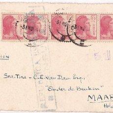 Francobolli: HP4-1- TARJETA POSTAL GUERRA CIVIL 1939. INTERESANTE TEXTO CAIDO EN COMBATE. BARCELONA -HOLANDA. Lote 286358603