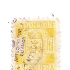 Sellos: AYUNTAMIENTO DE ANTEQUERA 1PESETA. SELLO MUNICIPAL.. Lote 286833748