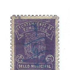 Timbres: AYUNTAMIENTO DE TOMELLOSO. 25CTS. SELLO MUNICIPAL.. Lote 286835198