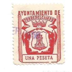 Sellos: AYUNTAMIENTO DE TORREDELCAMPO. 1PTA. SELLO MUNICIPAL.. Lote 286835548