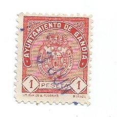 Sellos: AYUNTAMIENTO DE GANDÍA 1 PTS. SELLO MUNICIPAL.. Lote 286836188