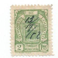 Sellos: AYUNTAMIENTO DE LOGROÑO 2 PTS. TIMBRE MUNICIPAL.. Lote 286836278