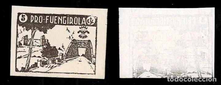 0120 GUERRA CIVIL FUENGIROLA FESOFI Nº 22S SIN DENTAR VARIEDAD PARCIALMENTE CALCADO VALOR 5 CTS. PAP (Sellos - España - Guerra Civil - Locales - Nuevos)
