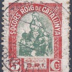 Sellos: SOCORS ROIG DE CATALUNYA. SECCIÓ S.R.I. CON MATASELLOS DE BARCELONA.. Lote 287095013