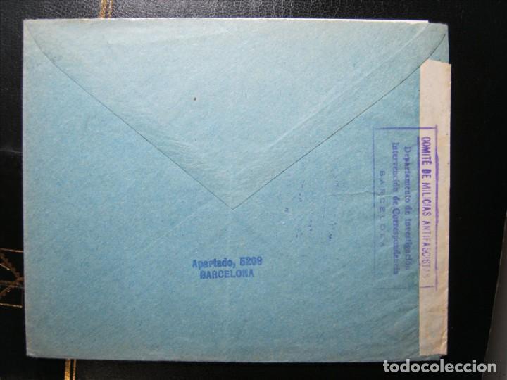Sellos: COMITÉ MILICIAS ANTIFASCISTAS CARTA BARCELONA-HAMBURGO 27/AGOSTO/1936!!! - Foto 3 - 287103063