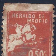 Sellos: HERALDO DE MADRID. PRIMA 0,50 PTS. MUY RARO Y ESCASO.. Lote 287207368