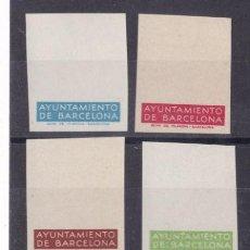 Selos: FC3-194- AYUNTAMIENTO BARCELONA PRUEBAS COLOR CARTUCHO INFERIOR EMISIÓ 1936. (*) .. Lote 287224548