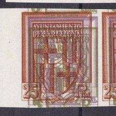 Selos: BB22-AYUNTAMIENTO BARCELONA PRUEBA ESCUDO DOBLE IMPRESIÓN 1 Y 25 PTAS .(*) MACULATURA. Lote 287404703