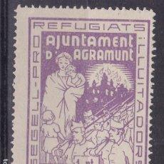 Selos: BB25- GUERRA CIVIL PRO REFUGIATS AGRAMUNT, (*) PERFECTO. Lote 287411488