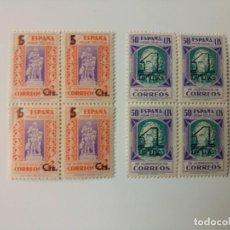 Sellos: BENEFICENCIA DEL AÑO 1938 EN BL4 EDIFIL 27/28 EN NUEVO**. Lote 287623378