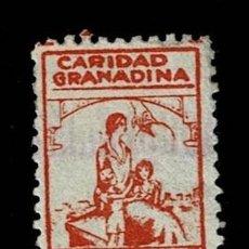 Sellos: CL8-14 GUERRA CIVIL GRANADA (CARIDAD GRANADINA) FESOFI Nº 32 VALOR 25 CTS COLOR NARANJA USADO O.. Lote 287624528