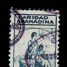 Sellos: CL8-14 GUERRA CIVIL GRANADA (CARIDAD GRANADINA) FESOFI Nº 33 VALOR 1 PTS COLOR AZUL USADO T. Lote 287624638