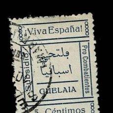 Sellos: CL8-9 GUERRA CIVIL GUELAIA FESOFI Nº 2 VALOR 5 CTS. COLOR AZUL USADO. Lote 287654773