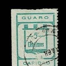 Sellos: CL8-4 GUERRA CIVIL GUARO FESOFI Nº 3 VALOR 5 CTS COLOR VERDE AZULADO USADO. Lote 287659263