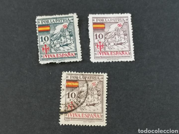 Sellos: España Guerra Civil Viñetas serie sellos Coruña - Foto 2 - 287725818