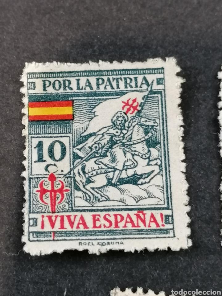 Sellos: España Guerra Civil Viñetas serie sellos Coruña - Foto 3 - 287725818
