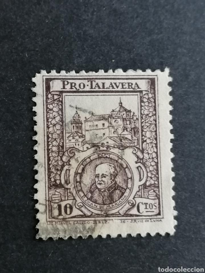 ESPAÑA SELLOS GUERRA CIVIL TALAVERA (Sellos - España - Guerra Civil - Viñetas - Usados)