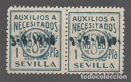 SEVILLA, - VARIEDADES-.- BENEFICOS- VER FOTO (Sellos - España - Guerra Civil - Locales - Usados)