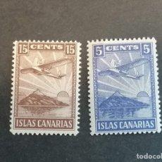 Sellos: ESPAÑA SELLOS GUERRA CIVIL ISLAS CANARIAS EDIFIL 2 VIÑETAS NUEVOS */**. Lote 288191808