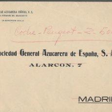 Sellos: SOBRE SOC. GRAL. AZUCARERA DE ESPAÑA, S.A. VER FOTO. Lote 288324338