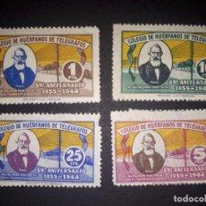 Sellos: BENEFICENCIA : COLEGIO DE HUERFANOS DE TELEGRAFOS - 89 ANIVERSARIO 1855-1944 - NUEVO **. Lote 288337773