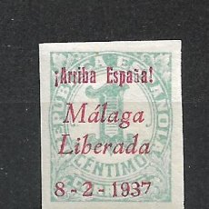 Sellos: ESPAÑA - GUERRA CIVIL - MALAGA LIBERADA 1 CTS ** MNH - 15/26. Lote 288338663