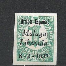 Sellos: ESPAÑA - GUERRA CIVIL - MALAGA LIBERADA 1 CTS ** MNH - 15/26. Lote 288338683