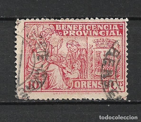 ESPAÑA GUERRA CIVIL ORENSE 10 CTS. USADO - 15/10 (Sellos - España - Guerra Civil - Locales - Usados)