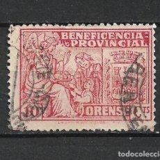 Sellos: ESPAÑA GUERRA CIVIL ORENSE 10 CTS. USADO - 15/10. Lote 288454018