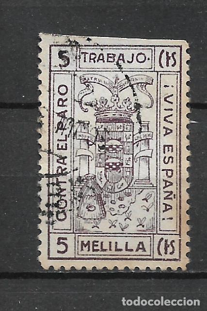ESPAÑA GUERRA CIVIL MELILLA 5 CTS. USADO - 15/10 (Sellos - España - Guerra Civil - Locales - Usados)
