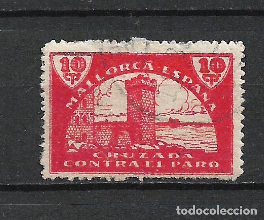 ESPAÑA GUERRA CIVIL MALLORCA 10 CTS. USADO - 15/10 (Sellos - España - Guerra Civil - Locales - Usados)