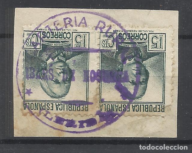 CARTERIA RURAL DE IBARS DE NOGUERA SOBRE FRAGMENTO LERIDA LLEIDA (Sellos - España - Guerra Civil - Locales - Usados)