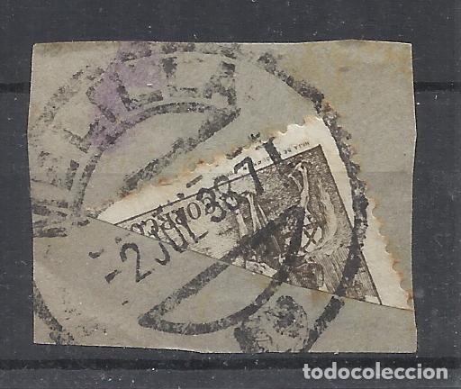 FECHADOR MELILLA BISECTADO SOBRE FRAGMENTO (Sellos - España - Guerra Civil - Locales - Usados)