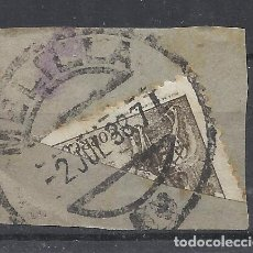 Sellos: FECHADOR MELILLA BISECTADO SOBRE FRAGMENTO. Lote 288601923