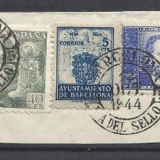 Selos: BARCELONA DIA DEL SELLO 1944 CON SELLO LOCAL Y DR THEBUSSEM SUPONGO. Lote 288602338