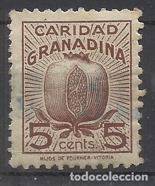 CARIDAD GRANADINA GRANADA 5 CTS USADO (Sellos - España - Guerra Civil - Locales - Usados)