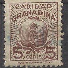 Sellos: CARIDAD GRANADINA GRANADA 5 CTS USADO. Lote 288602623
