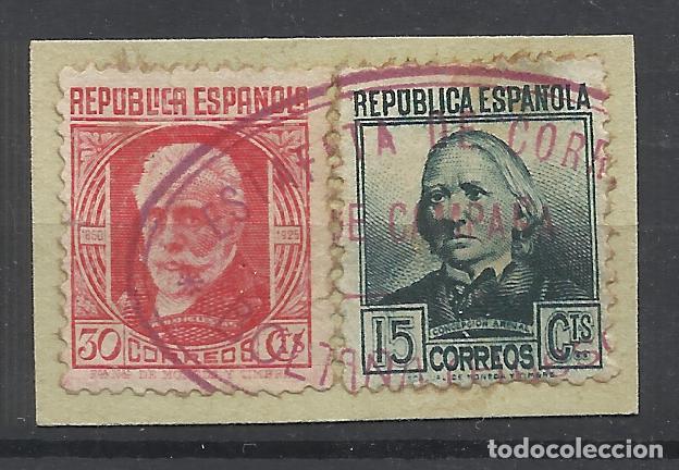 CORREO DE GUERRA ESTAFETA DE CAMPAÑA SOBRE FRAGMENTO (Sellos - España - Guerra Civil - De 1.936 a 1.939 - Usados)