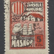 Sellos: CONSELL MUNICIPAL EL MASNOU BARCELONA 5 CTS NUEVO*. Lote 288922018