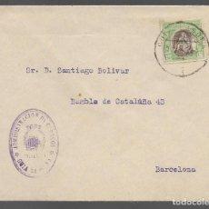 Sellos: CARTA A BARCELONA, FRANQUICIA DE CORREOS, Y SELLO HUERFANOS--VER FOTO. Lote 289214508