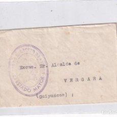 Sellos: SOBRECITO CUERPO DE EJERCITO DE ARAGÓN. ESTADO MAYOR. ALCALDE VERGARA. Lote 289331973