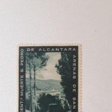 Sellos: VIÑETA. PRO IV CENTENARIO DE LA MUERTE DE S. PEDRO DE ALCANTARA. ARENAS DE SAN PEDRO. AVILA, 1962.. Lote 289360703